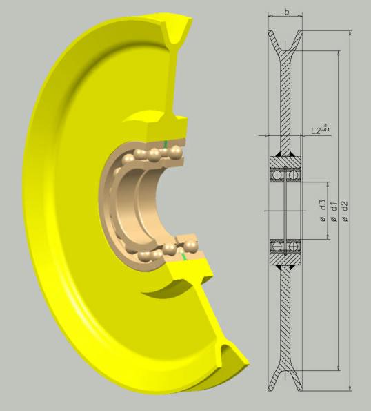 singmarine ball bearing sheave